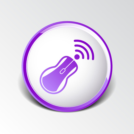 wireless tool: wireless mouse button web icon tool  click.