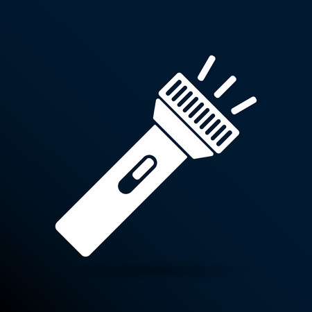 pocket flashlight: flashlight icon torch vector pocket light shine isolated.