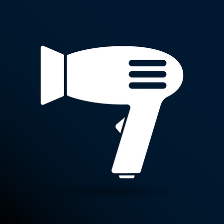 hairdryer: Hairdryer sign icon. Hair drying symbol.Blowing hot air.