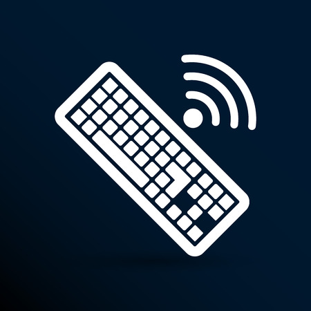 put the key: Computer keyboard key sign icon, vector illustration