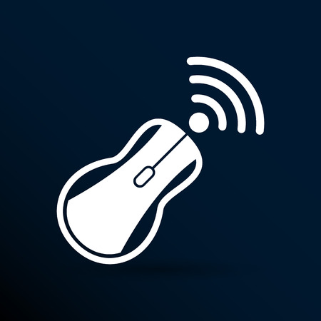 peripherals: wireless mouse button web icon tool  click.