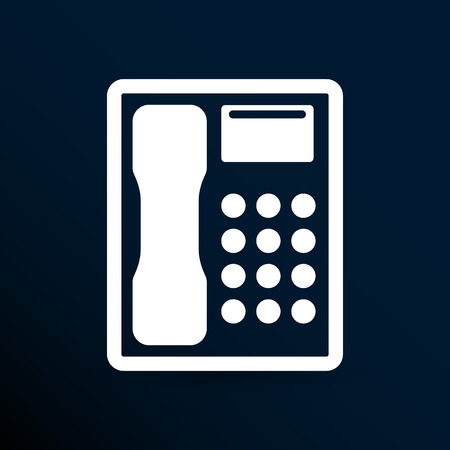 ip: Telephone vector icon phone ip business concept. Illustration
