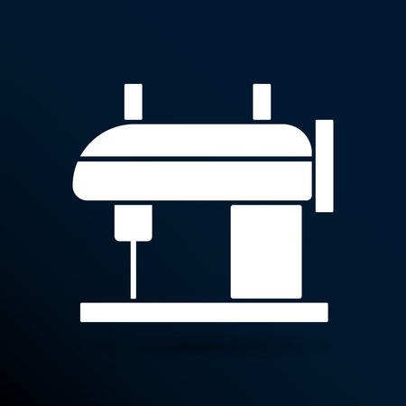 raft: Sewing machine vector icon raft embroidery tool clothes.