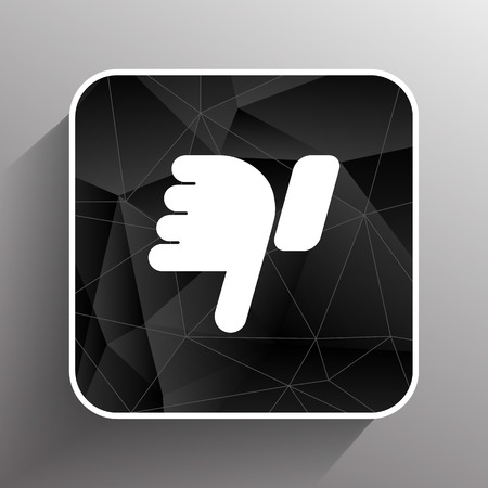 thumb down: Vector hand with thumb down icon symbol. Illustration