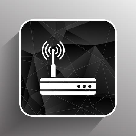 hub: Vecteur sans fil wifi adsl modem ethernet hub routeur ic�ne. Illustration