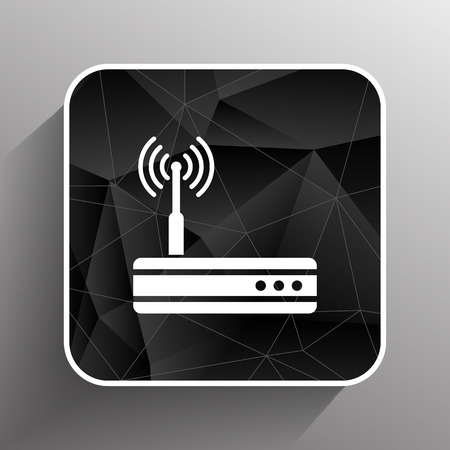 adsl: Vector wireless router icon wifi adsl ethernet modem hub .