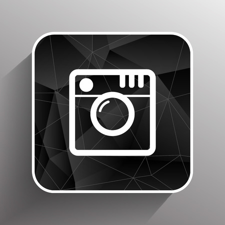 Hipster photo icon Camera icon Photo camera pictogram. Ilustracja