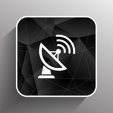 microwave antenna: Radar Vector icono de sat�lite plato tecnolog�a de la televisi�n.
