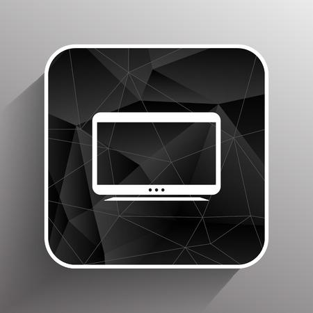 tv icon tv vector flatscreen hd lcd .