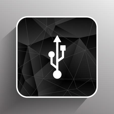 compartment: usb icon file compartment hardware vector symbol.