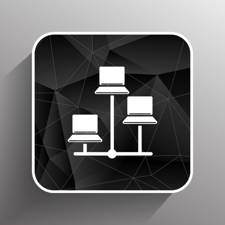 red lan: Red - icono de vector redes cableadas lan web. Vectores