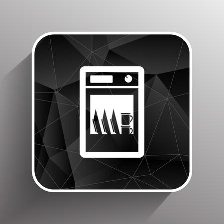 dishwasher: icon dishwasher dishe washer vector kitchen clean.