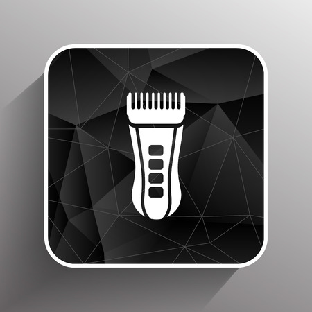 hairclipper: Hairclipper illustration accessory appliance barber beauty icon.