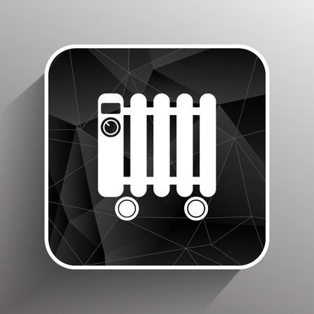 calentador: Calentador t�pico radiador lleno icono s�mbolo el�ctrico.