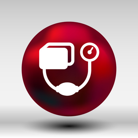 outpatient: Blood Pressure Checker icon Illustration