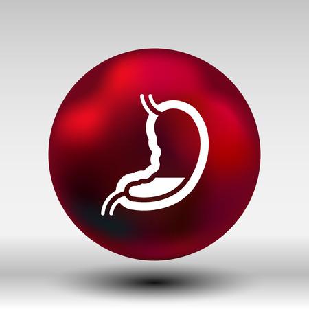 colonoscopy: intestinal organ icon Illustration