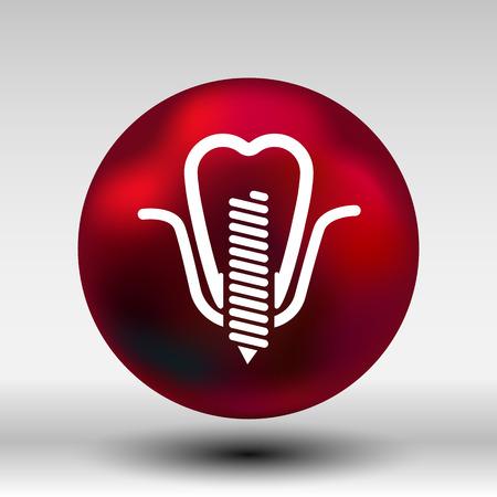 false: screwed false tooth icon Illustration