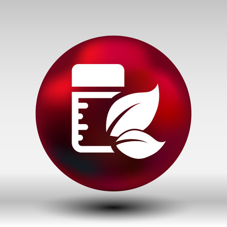 pill bottle: Natural Pill bottle icon