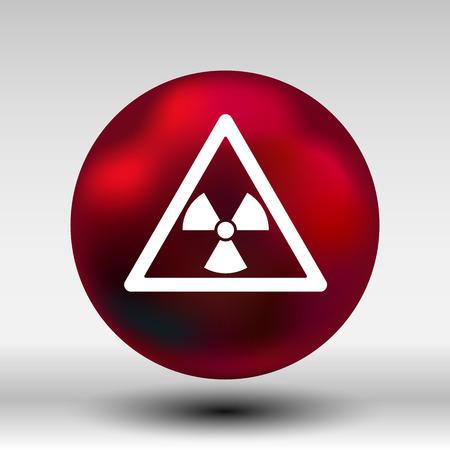 irradiation: radiation sign icon