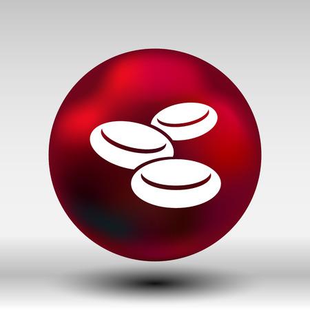 globulo rojo: macro del grupo eritrocitos corpúsculos icono. Vectores