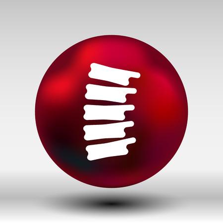 scoliosis: Spine diagnostics symbol