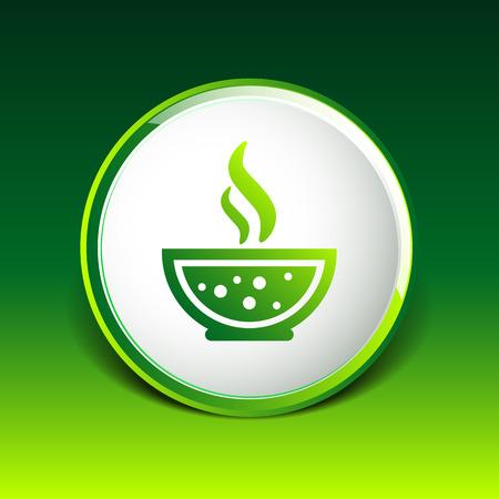 restaurateur: Bol de soupe chaude ic�ne