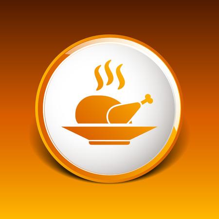chicken grill: chicken grill icon
