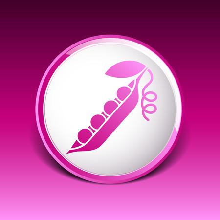 peas pod icon Vector