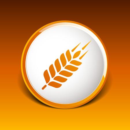 oat field: Wheat ear icon
