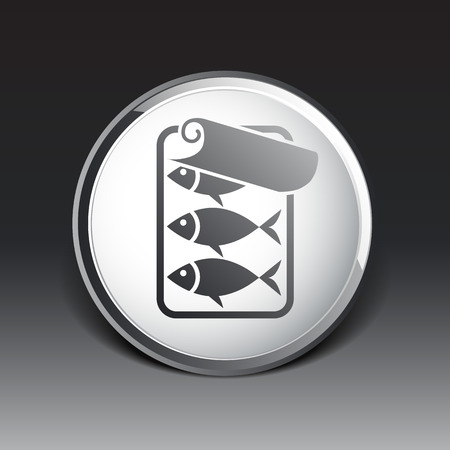 sardine: Fischkonserven icon Illustration