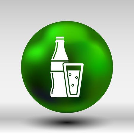 soda splash: soda bottle design concept logo vector sign line.