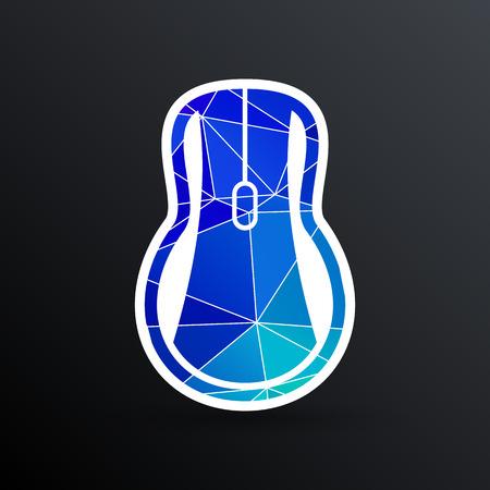 computer mouse icon: Computer mouse icon, icon vector symbol click button cursor. Illustration