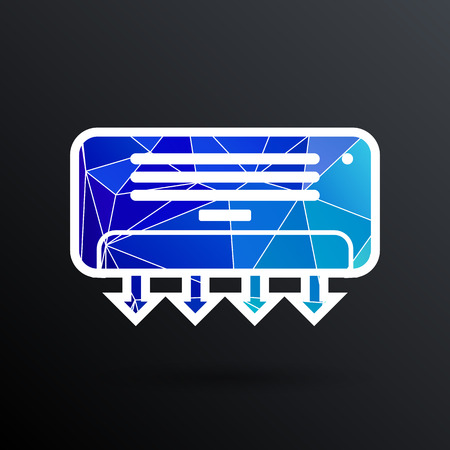 cold room: Air Conditioner Temperature icon celsius cold technology.