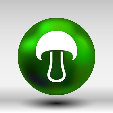 boletus mushroom: Mushroom sign icon. Boletus mushroom symbol concept. Illustration