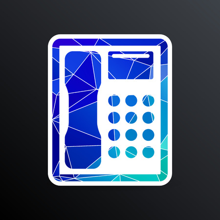 communicator: Telephone vector icon phone ip business concept. Illustration