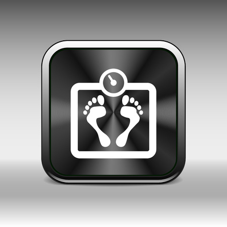 dieting: Scale icon iweight vector diet symbol dieting balance.