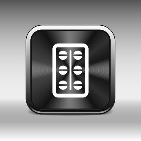 simplistic icon: medical pain chemistry aspirin heap sickness simplistic icon.