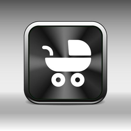 maternity: baby stroller icon, maternity wheel illustration born pram.