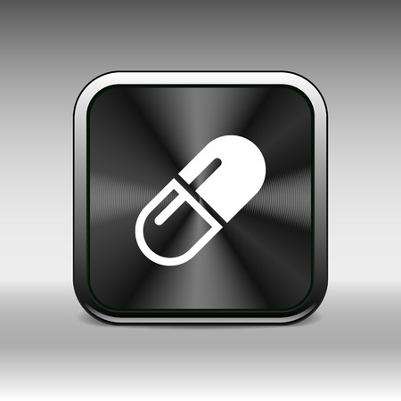 aspirin: medical pain chemistry aspirin heap sickness simplistic icon.