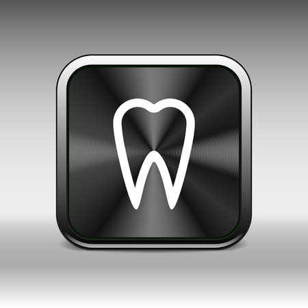 toothache: icon toothache vector sign line clinic symbol whitening .