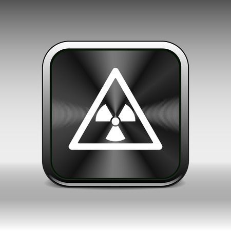 nuclear sign: sign radiation vector icon caution nuclear atom power.