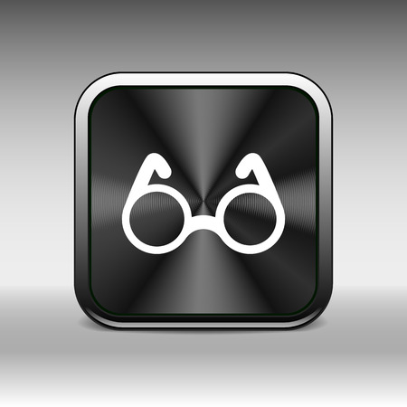 specs: Vector Round Glasses Icon Symbol vision isolated specs decoration. Illustration