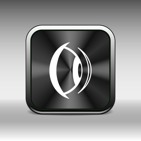see: Eye icon vision view vector look see sight symbol. Illustration