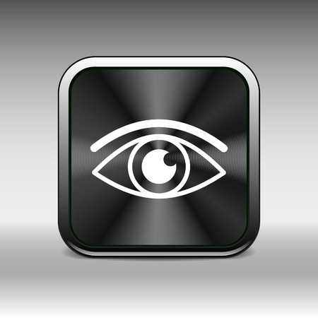 looks: Eye icon vector vision symbol look graphic pictogram.