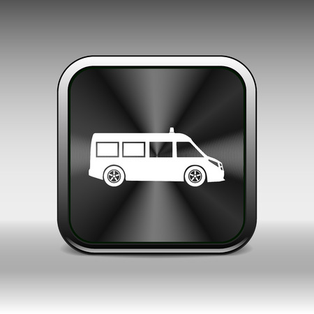 technician: ambulance icon vector medical urgent first relief technician.
