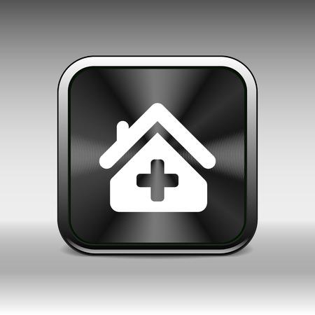 polyclinic: Medical hospital sign icon Home medicine symbol. Illustration