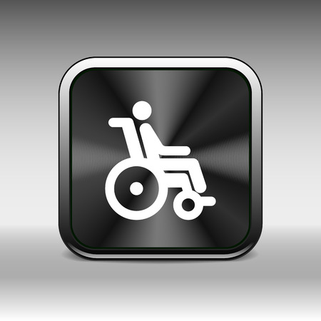 handicap: handicap handicapped chair wheel accessible an invalid icon.