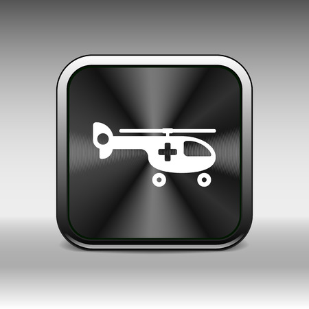 evacuation equipment: Helicopter ambulance icon medical vector air health.