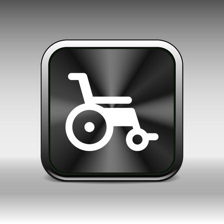 handicap sign: disabled icon sign vector wheelchair handicap symbol. Illustration
