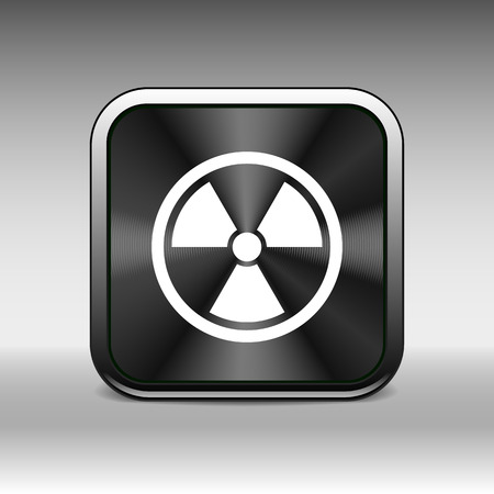 deterrent: sign radiation vector icon caution nuclear atom power.